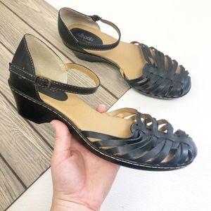SoftSpots Tatiana Leather Closed Toe Sandals SZ 12